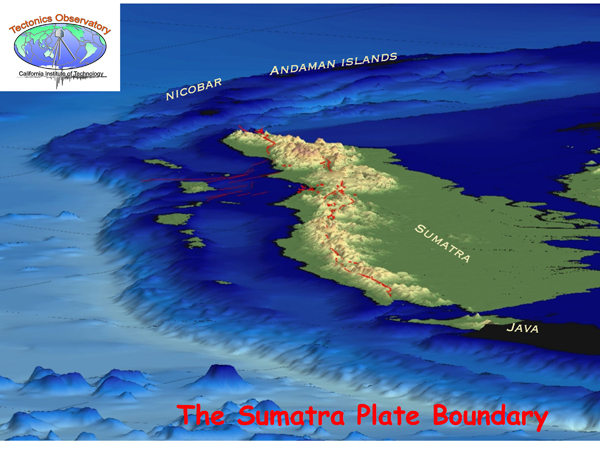 Regional map of subduction zone